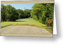 Watch For Water On Road Greeting Card