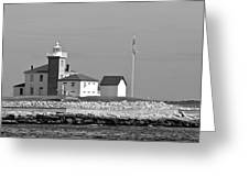 Watch Hill Light 3 Greeting Card
