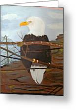 Watchful Eagle Greeting Card