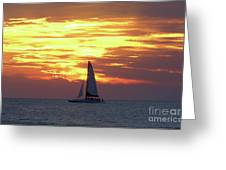Watching Fire In The Sky Greeting Card