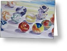 Watching Over My Marbles Greeting Card