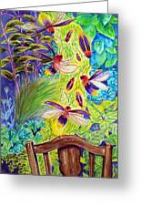 Watching The Bug Byway By Way Of Back Porch Greeting Card