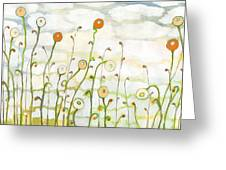 Watching The Clouds Go By No 2 Greeting Card by Jennifer Lommers