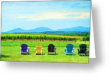 Watching The Grapes Grow Greeting Card