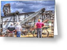 Watching The Thresher 3368 Greeting Card