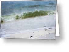 Watching Waves Crest And Break Greeting Card