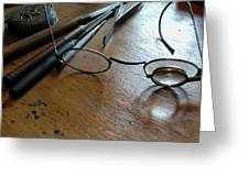 Watchmakers Glasses Greeting Card