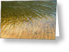 Water Abstract - 1 Greeting Card