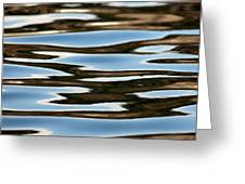 Water Abstract Okanagan Lake Greeting Card