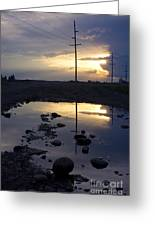 Water And Electricity Greeting Card