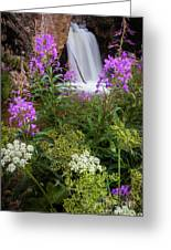 Water And Flowers Greeting Card