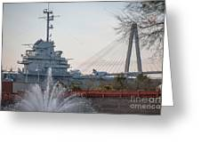 Water And Metal Greeting Card