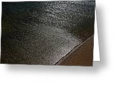 Water And Sand Greeting Card