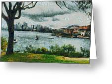 Water And Scenery Greeting Card