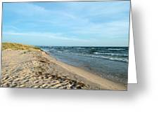 Water And The Beach Greeting Card