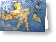 Water Babies Greeting Card