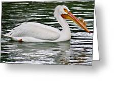 Water Bird With Notches Greeting Card