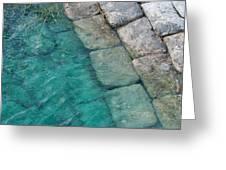 Water Blocks Greeting Card