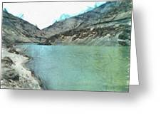Water Body In The Himalayas Greeting Card