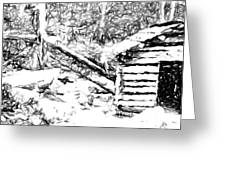 Water Cabin  Greeting Card