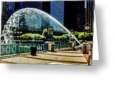 Water Canon In Color Greeting Card