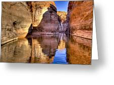Water Canyon Greeting Card