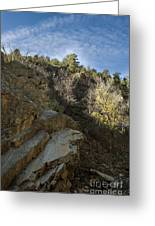 Water Canyon Sky View Greeting Card