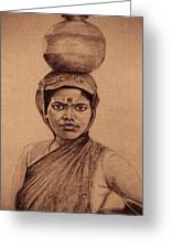 Water Carrier Greeting Card