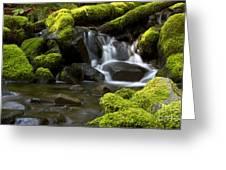Water Cascade Greeting Card