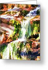 Water Cascading Greeting Card