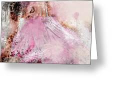 Water Colour Ballerina Greeting Card