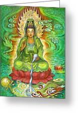 Water Dragon Kuan Yin Greeting Card