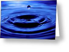 Water Drop Greeting Card by Eric Ferrar