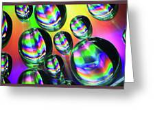 Water Droplets 6 Greeting Card