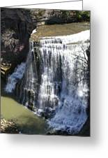 Water Fall In Tennessee  Greeting Card