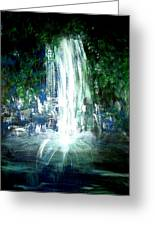 Water Falling Greeting Card