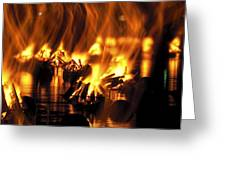 Water Fire Greeting Card