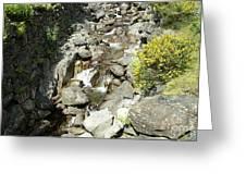 Water Flowing 6 Greeting Card
