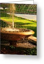 Water Fountain Garden Greeting Card