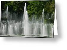Water Fountain Show - Longwood Gardens In Pa Greeting Card