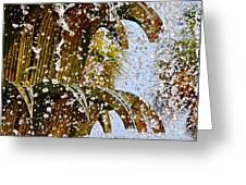 Water Fountain Yellow Charleston Sc Greeting Card by Lori Kesten