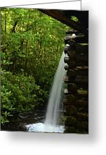 Water From The Flume Greeting Card