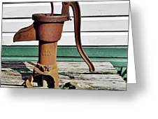 Water Hand Pump Greeting Card