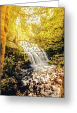 Water In Fall Greeting Card
