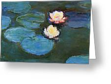 Water Lilies 1899 Greeting Card