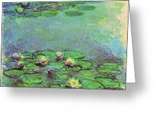 Water Lilies 1917 6 Greeting Card