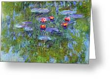 Water Lilies 1919 3 Greeting Card