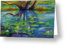 Water Lilies No 1. Greeting Card