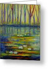 Water Lilies No 2. Greeting Card