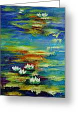 Water Lilies No 3. Greeting Card